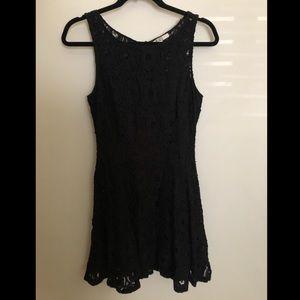 Black lace mini dress, size 4